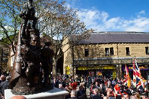 Unveiling ceremony of the Duke of Wellington's Regimental Memorial Statue, Halifax