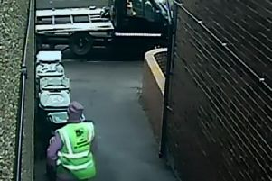 CCTV cameras captured two incidents at the same address, on February 8 and March 1 this year.