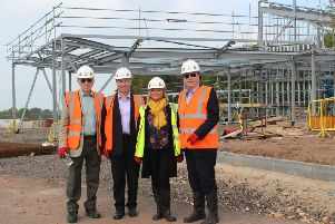 Officers from West Lindsey District Council and Coun Jeff Summers at the crematorium site.