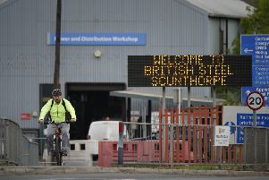 The collapse of British Steel at Scunthorpe threatens up to 25,000 jobs. (PHOTO BY: Christopher Furlong/Getty Images)