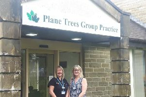 Mandy McCarron, reception supervisor and Tracy Bell, practice manager
