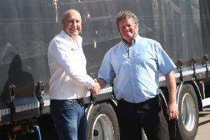 Joining forces: Dave Fairbrother, MD of ADD Express, is pictured with Michael Hinchliffe, MD of Hargreaves Foundry.