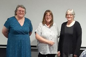 Angela Train, Yvonne Kurvits and Debs England delivered talks at the discussion evening hosted at Pocklington Arts Centre by the West Wolds Branch Labour Party.