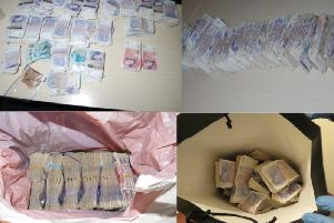 Money laundered by drug traffickers