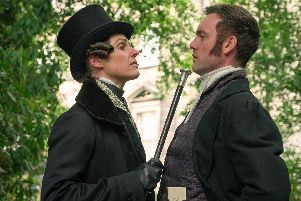 Anne Lister (Suranne Jones), Thomas Ainsworth (Brendan Patricks). Picture: Lookout Point/HBO/Matt Squire