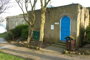 The toilet block near the Holbeck Clock Tower