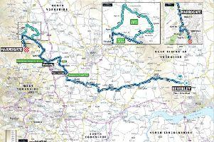 The world-class riders will leave Beverley and pass through Market Weighton, Holme upon Spalding Moor, Foggathorpe and Bubwith to the finish in Harrogate.