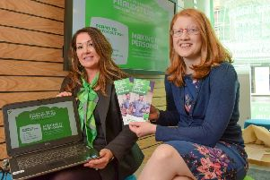 Online advice: Building society branch manager Lizzie Szpara with Halifax MP Holly Lynch.