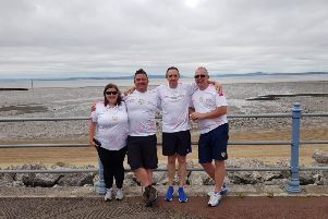 Ben with support team of Gaynor Thompson, Gary Hawksworth and Mark Milsom.