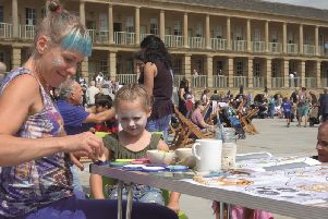 Face painting at a previous event at The Piece Hall