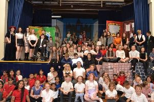 The cast of musical, Tomorrow, produced by the Pendle Education Trust.
