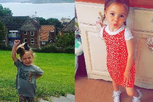 Four-year-old Thalia-Beau Wright who is living with a rare heart condition in Scarborough