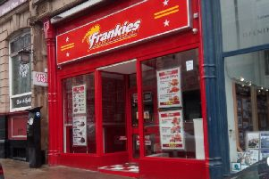 Frankies takeaway in Silver Street, Halifax