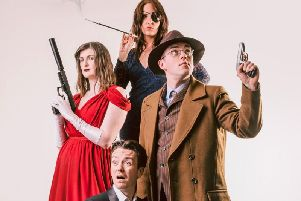 The cast of Murder Mystery: Mind Your Manors at The Burnley Mechanics.