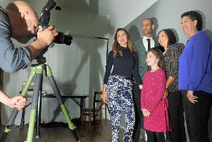 The family of  of Errol James MBE being photographed for the Eulogy Project in Leeds by photographer  Paul Floyd Blake.