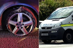 The appalling condition of the car wheel (Picture by West Yorkshire Police)