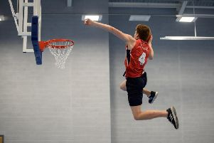 Inside the new sports centre at Rossall School