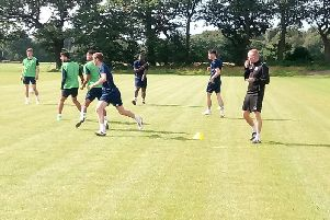 Pete Wild in charge of training with FC Halifax Town