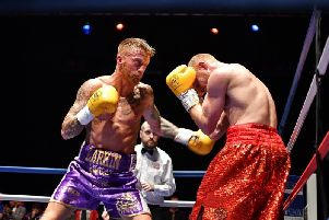 Former Sandygate ABC fighter Sam Larkin (left)