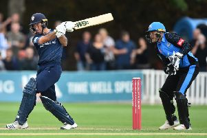 Wayne Madsen, who thundered a superb half-century for Derbyshire Falcons at Old Trafford. (PHOTO BY: Nathan Stirk/Getty Images)