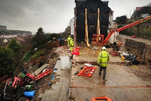 The site being demolished. PIC: Ceri Oakes