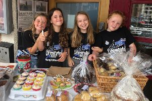 Charlotte, Isla, Martha and Georgina, the Elderly Engagers, took on a major project at Wold Haven nursing home to renovate the venue's garden.
