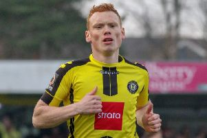 Michael Woods in action for Harrogate Town last season. Picture: Matt Kirkham