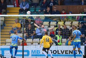 James Belshaw makes a save.