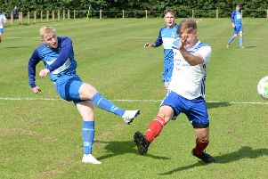Charlie Yates bagged a brace in Kirk Deighton Rangers' 4-0 triumph over Pool. Picture: Peter Arnett (KDRFC Media)