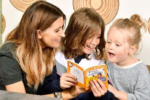 Emmerdale's Charley Webb helped launch McDonald's Happy Readers campaign at the Knaresborough restaurant.