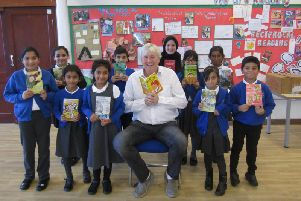 Eamonn Reilly with the students