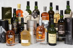 A selection of Whisky in Tennants Auctioneers' Fine Wine and Whisky sale.
