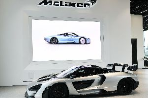A McLaren Senna, worth 750,000 normally but this version retails at over 800,000