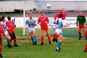 Halifax Town 5-2 Walsall, The Shay, March 2, 1991. Photo: Keith Middleton.