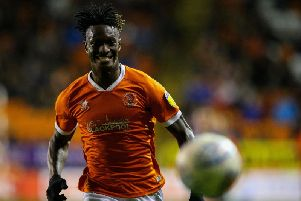 Armand Gnanduillet is thriving on the competition for places at Blackpool