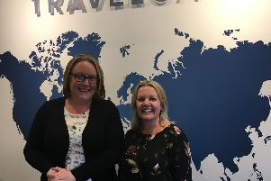 Harrogate business TravelGate's new staff member Debbie Proctor with the shop's co-owner Melanie OBoyle.