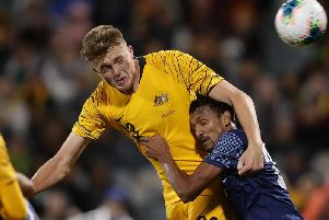 Harry Souttar has scored in both his matches for Australia  Picture: GETTY IMAGES