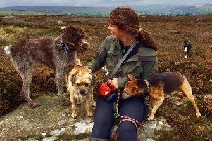 Sarah walks around 10 miles a day as she takes the dogs to all parts of Nidderdale.