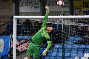 Michael Ingham pulled off an incredible save to help Tadcaster Ablion earn a point. Picture: Matthew Appleby