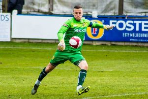 Michael Ingham made an important save late on to help Tadcaster Albion to a point at Atherton Collieries. Picture: Matthew Appleby
