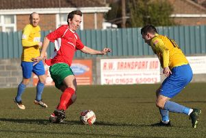 Michael Thompson netted a stunning goal for Harrogate Railway at Handsworth, but it was not enough to save his side from defeat. Picture: Rob Barraclough