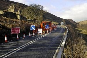 The A59 at Kex Gill