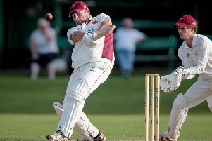Bilton CC skipper Ryan Bradshaw led by example with a half-century against Burley-in-Wharfedale. Picture: Caught Light Photography