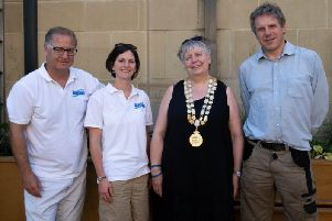 The Mayor of Hebden Royd opened the planters