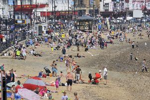 The heatwave has seen families flock to resorts like Scarborough.