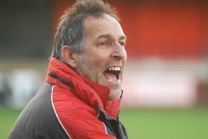 Brian Davey's first competitive game in charge of Harrogate Railway ended in defeat