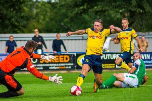 Tadcaster Albion endured a frustrating afternoon when they entertained Carlton Town. Picture: Matthew Appleby