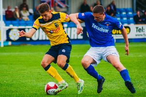 Tadcaster Albion lost out 3-0 at home to Morpeth Town on Bank Holiday Monday. Picture: Matthew Appleby