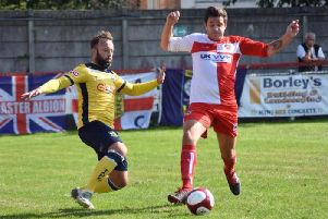 Tadcaster Albion suffered an afternoon of frustration on the road at Gresley. Picture: Matthew Appleby