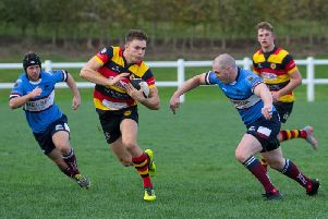 Harrogate RUFC ran riot during the second half of Saturday's North Premier clash with Wilmslow. Picture: Keith Hunt